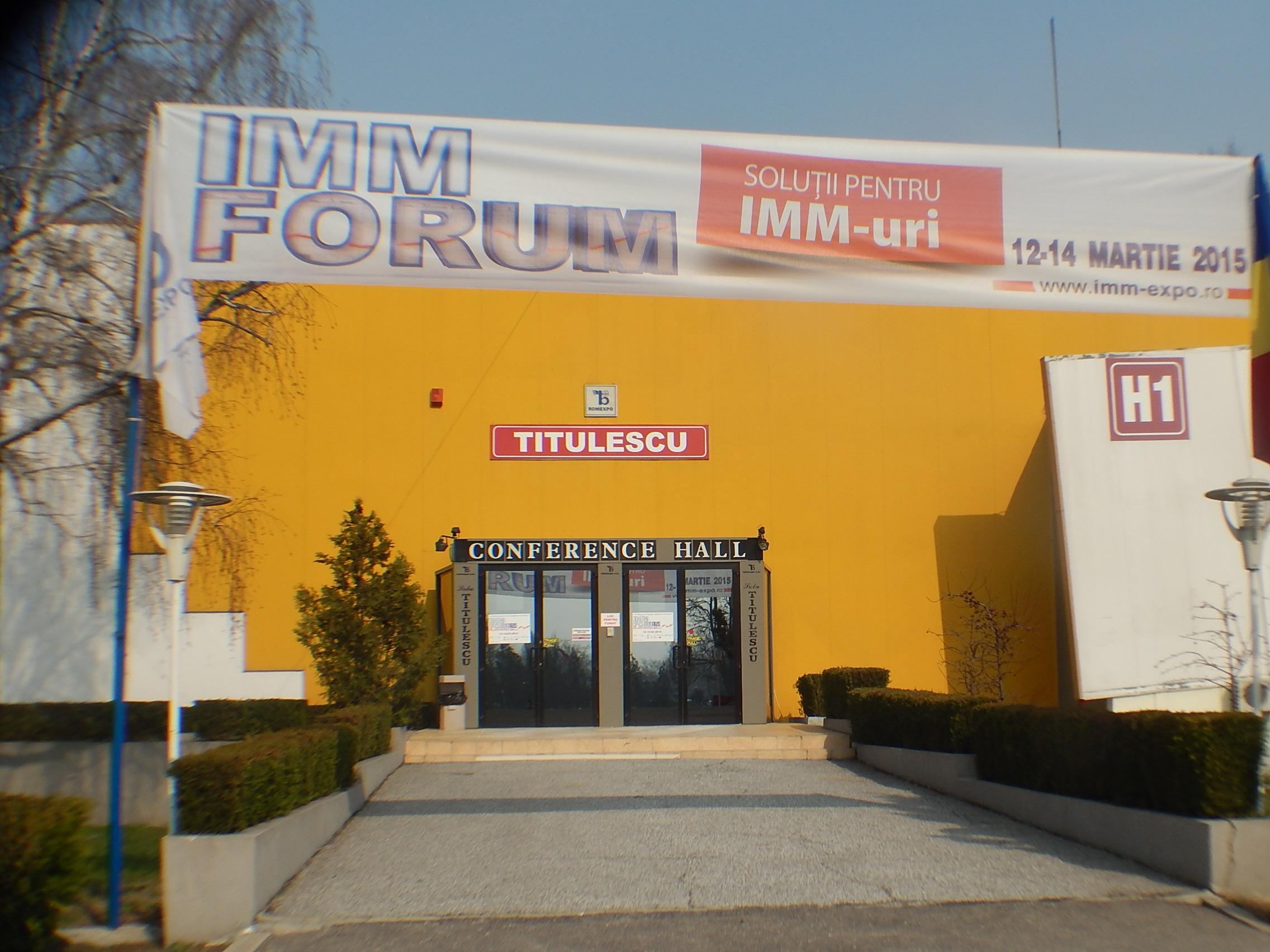 IMM Forum 2015 -  intrare