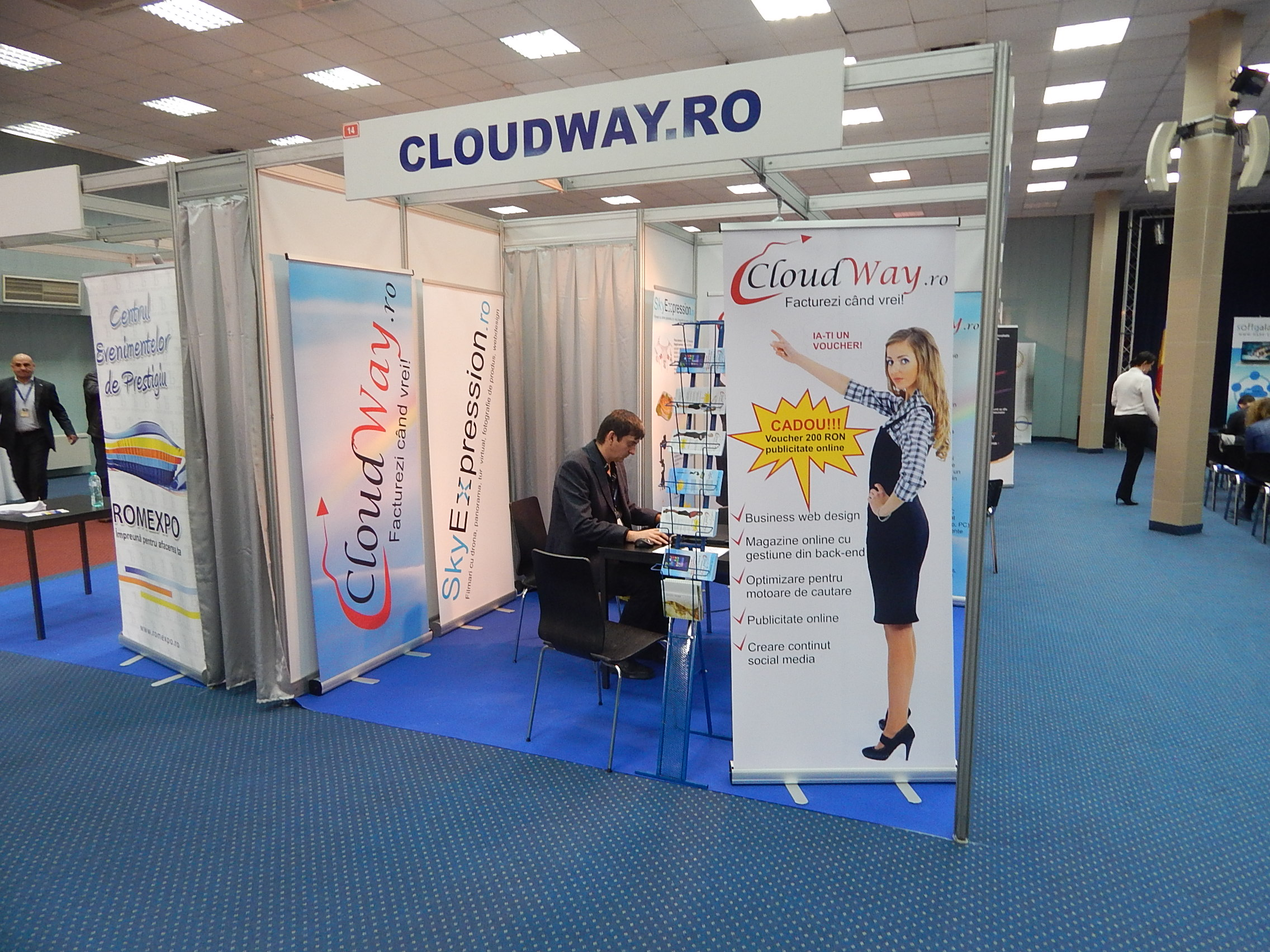 IMM Forum 2015 -  stand cloudway.ro si skyexpression.ro