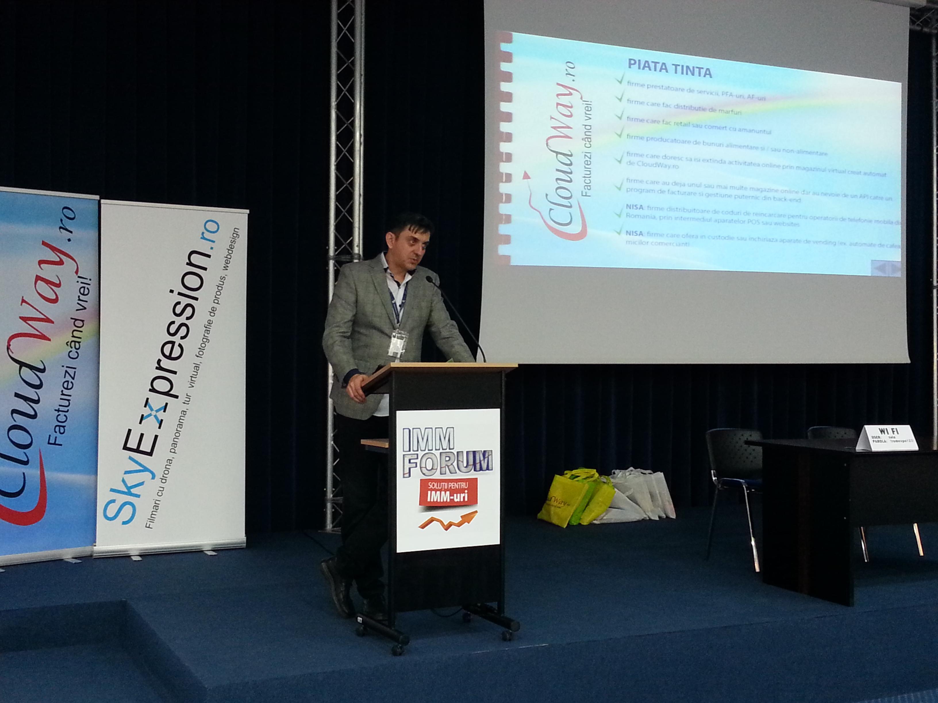 IMM Forum 2015 - prezentare Cloudway.ro si Skyexpression.ro