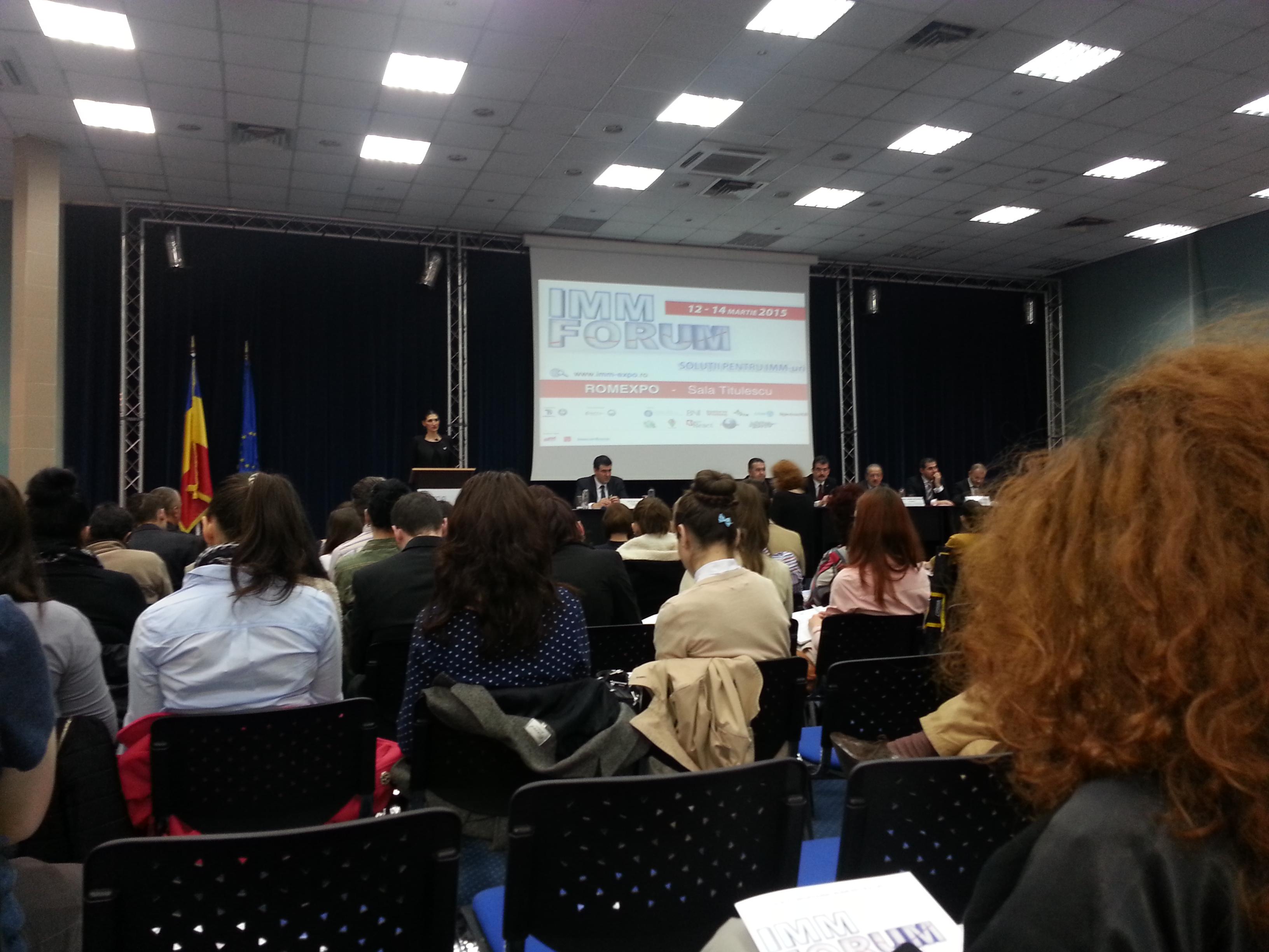 IMM Forum 2015 - deschidere
